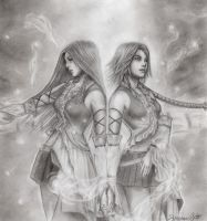Yuna and Lenne by animeartist67