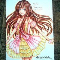 fanart of mirai suenaga in lolita dress by Syahlalala