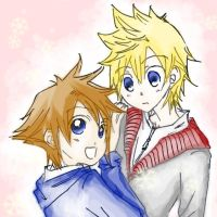 Sora and Roxas by puchiguya