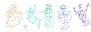 Rayman Origins: Nymphs by Twisted-Persona