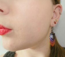 Niobium Scale Earring by Kitteh-Pawz