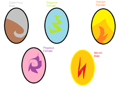 MLP Egg Adoptables by GrumpyTouhoutard