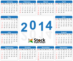 2014 Calendar Vector Free Download by Stockgraphicdesigns