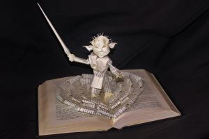 Yoda Book Sculpture by wetcanvas