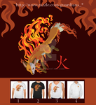 Kaius the Fox, Guardian of Fire Men T-Shirts by spd243
