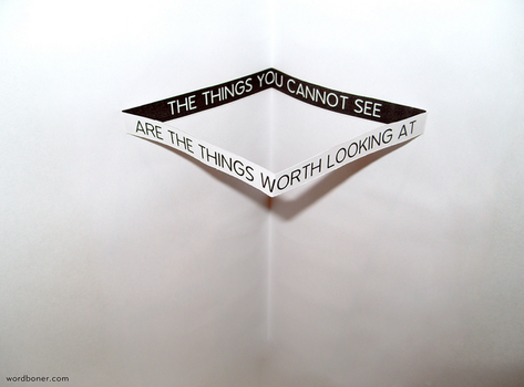 The Things You Cannot See by WRDBNR