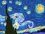 Van Gogh's Starry Night Doodle by colorful-yak