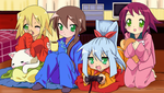 Rockman girls Lucky Star style by Na-Nami