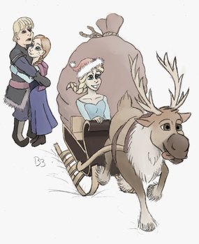 Elsa delivered the presents this year by BronyBiscuitBites