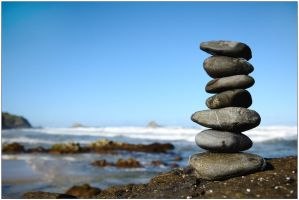 Stack of stones 1 by wildplaces