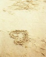 heart on the beach by mayq5