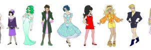 Sailor senshi fashion decades by Asiulus