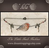 Lila The House Finch Necklace by natamon