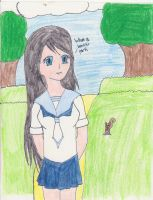 A Walk in the Park:colored by AnimeAnimalLover101