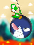 Yoshi's Chain Chomp Wrecking Ball by DarkraDx