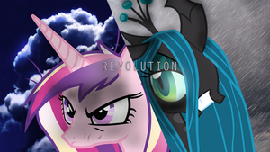 Princess Cadence VS Queen Chrysalis by ElmoDesigns