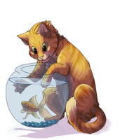 Look at the Little Fishie by Naoki-Wolf