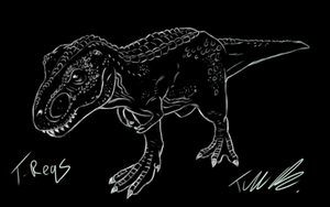 Primal Carnage Tyrannosaurus Sketch by T-Reqs