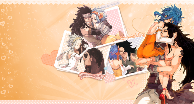Levy and Gajeel Wallpaper by Hunibi