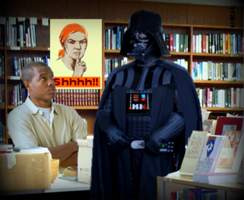 Vader in the Library by Eat-Sith