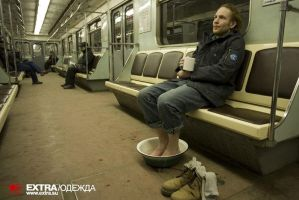 One cold day in the subway by franzelano