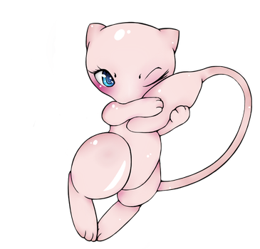 Mew Line Art - Colored by shotabox