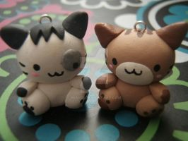 Kawaii Mineco Cats Pair by mia831