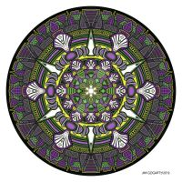 Mandala drawing 33 Coloured v1 by Mandala-Jim