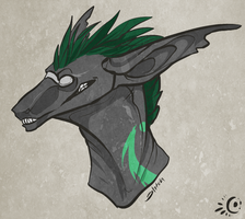 Grinning Green by Stitchy-Face