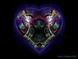 Stained Glass Heart by Actionjack52