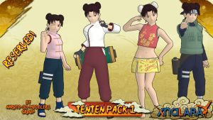 Naruto - Tenten PACK 1 FOR XPS by ASideOfChidori