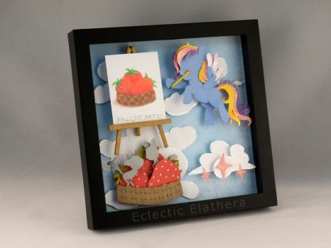 Glittering Cloud shadowbox for Centchi by elathera