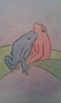 Two Frogs by AaliyahMoon