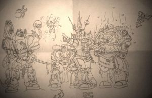 Chibi cult marines by Agorableed