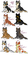 Canine Adoptables 2 by Experiment504