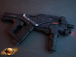 Mass Effect M-12 Locust SMG by UnleasheDDesigns
