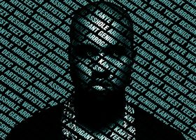 Kanye West Typography - Blue by NewtDesigns