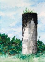 The Silo with a Mohawk by GreenPeridot
