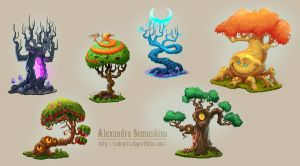 Amazing trees by Sedeptra