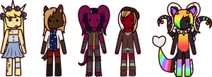 Commission: They all are chibi!! by BabyWitherBoo