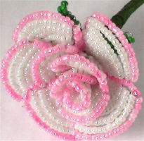 Victorian Beaded Rose by Craftcove