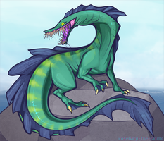 Pesty Eel Dragon by Rosemary-the-Skunk