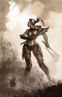 warrior lady by bmd247
