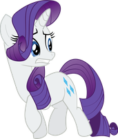 Startled Rarity Vector by ClockworkSprocket