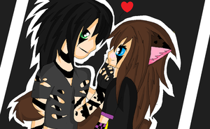 Jake Pitts and  Fangirl Kitty by XxsilvixX