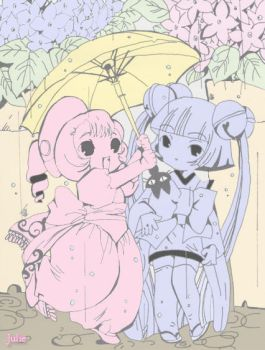 Sumono and Kotoko by CLAMP-Club
