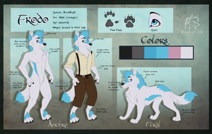 Frodo Anthro and Feral WindWolf Ref by WindWo1f