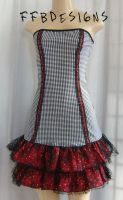 Houndstooth dress by funkyfunnybone