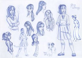 Ginny Sketch Montage by kuabci