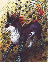 Midna wolf idea powerful wolf by LilleahWest